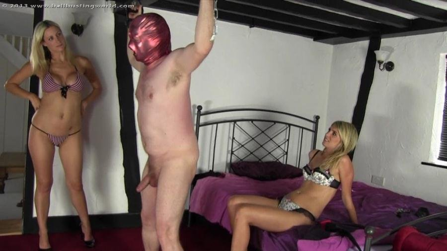 BallbustingWorld.com: (Hanging Around) - BB-1138 [SD / 402 MB] - Femdom, Ballbusting