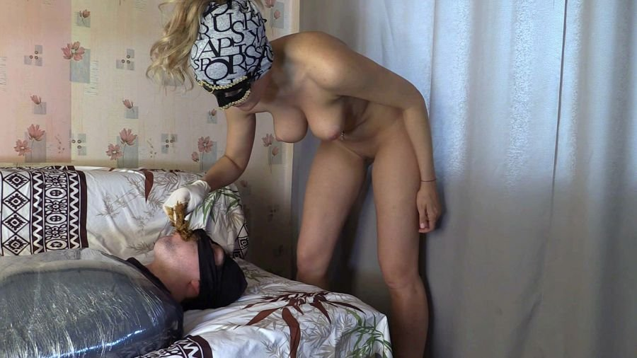 Scat Femdom: (Princess Mia) - Princess Grace and toilet slave [FullHD 1080p] - Amateur, Humiliation