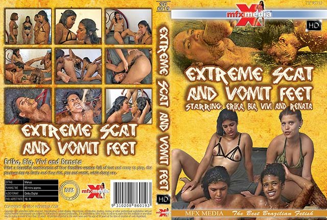 MFX Media: (Erika, Bia, Vivi, Renata) - [SD-6019] Extreme Scat and Vomit Feet [HDRip] - Vomit, Lesbian