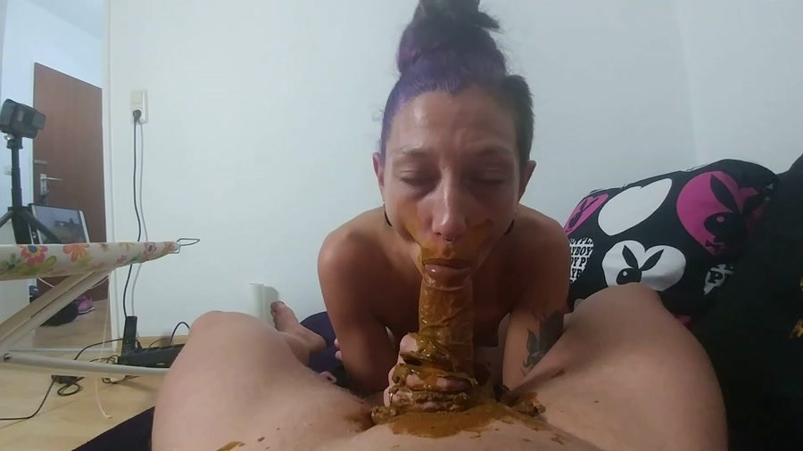 Germany Scat: (KV-GIRL) - Mouth full of shit and cock blown [FullHD 1080p] - Scatology, Blowjob