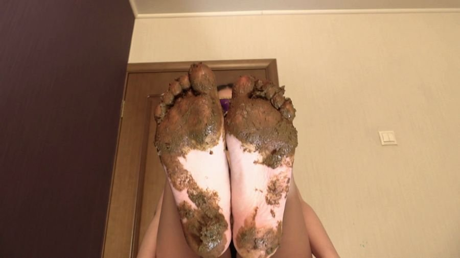 Foot Scat: (Princess Mia) - Mia Pov Foot smearing Scat with Princess Mia and toilet slave [FullHD 1080p] - Feet, Femdom