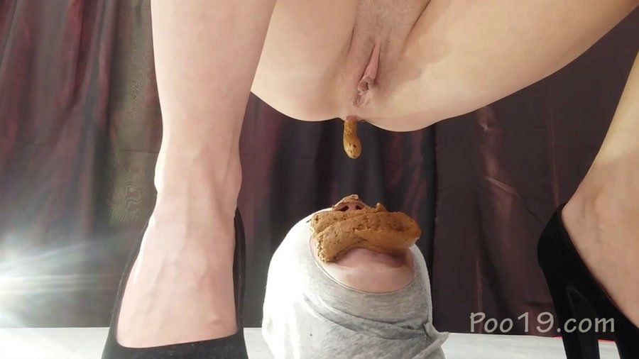 Femdom Scat: (Smelly Milana) - Banquet for a 3-course toilet slave will fucked [FullHD 1080p] - Humiliation, Star Scat