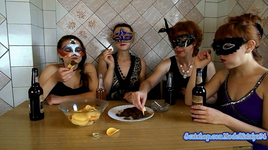 Threesome Scat: (ModelNatalya94) - The morning Breakfast the four girls [FullHD 1080p] - Amateur, Milf