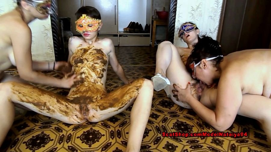 Group Defecation: (ModelNatalya94) - Dirty lesbian show from three girls [FullHD 1080p] - Scatology, Group