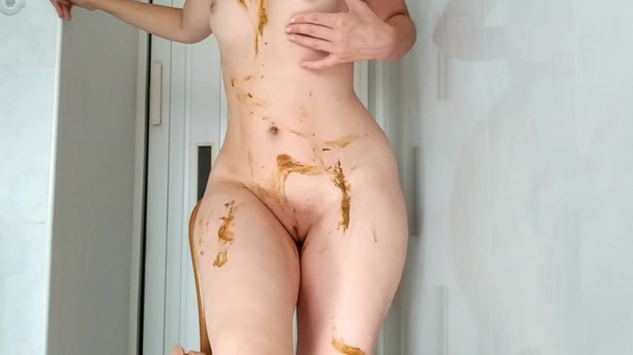 Extreme Scat: (NastyGirl) - Sexy pooping on dildo playing and smearing [HD 720p] - Scat, Solo, Amateur