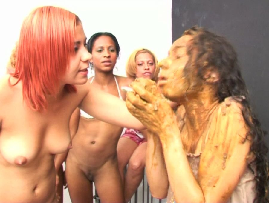 SG Video: (ShitGirls) - Forced to swallow scat 7 [SD] - Lesbians, Group