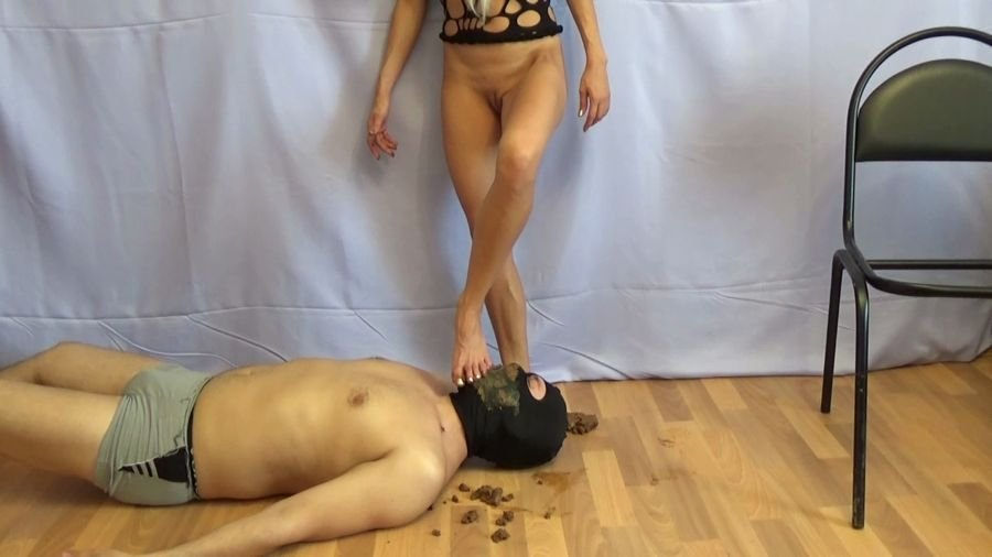 Femdom: (Marcos579) - Swallow My Monster Thick Shit [HD 720p] - Humiliation, Shitting