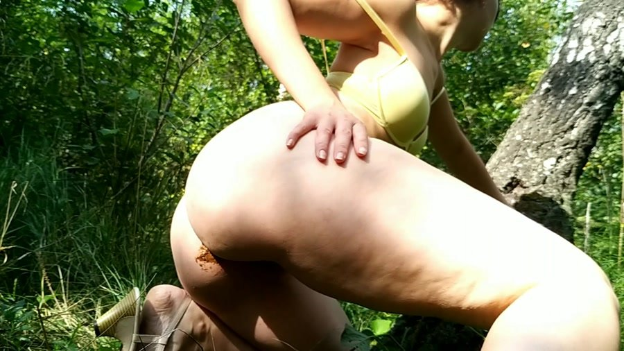 Outdoor Scat: (nastygirl) - Hot striptease poo and pee in park [FullHD 1080p] - Defecation, Solo