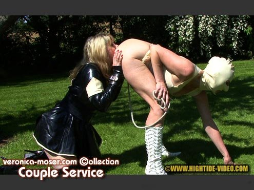 Hightide Scat: (Veronica Moser, Madame LL, 1 male) - VM40 - COUPLE SERVICE [HD 720p] - Scatology, Latex, Domination
