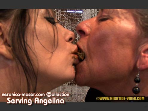 Hightide Scat: (Veronica Moser, Angelina) - VM44 - SERVING ANGELINA [HD 720p] - Lesbians, Smoking, Mature