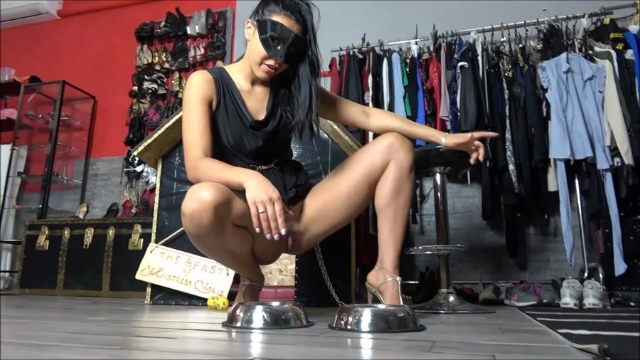 Domination: (Mistress Gaia) - Enjoy your meal dog [FullHD 1080p] - Femdom, Solo