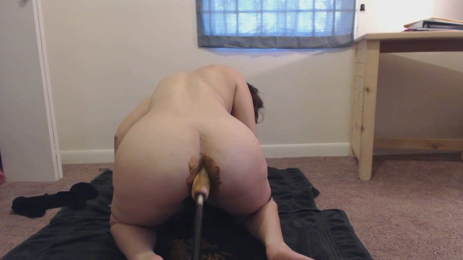 Scatting: (LindzyPoopgirl) - POV doggystyle – Fucked up shit filled Asshole [HD 720p] - Pooping Girls, Dildo