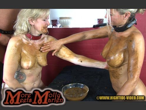 Hightide: (Molly, Marlen, 1 male) - MORE MOLLY MEETS MARLEN [HD 720p] - Sex Scat, Blowjob, Lesbians