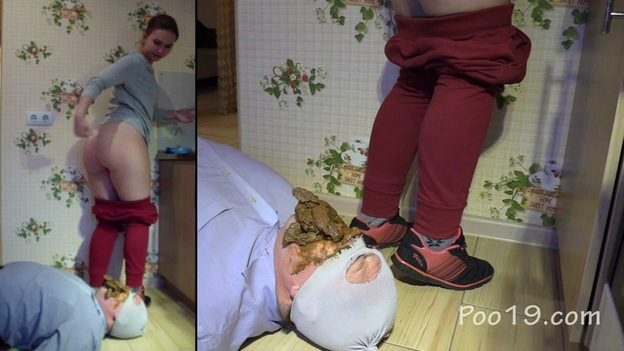 Femdom Scat: (MilanaSmelly) - Lick the crap off the shoe [HD 720p] - Group, Humiliation