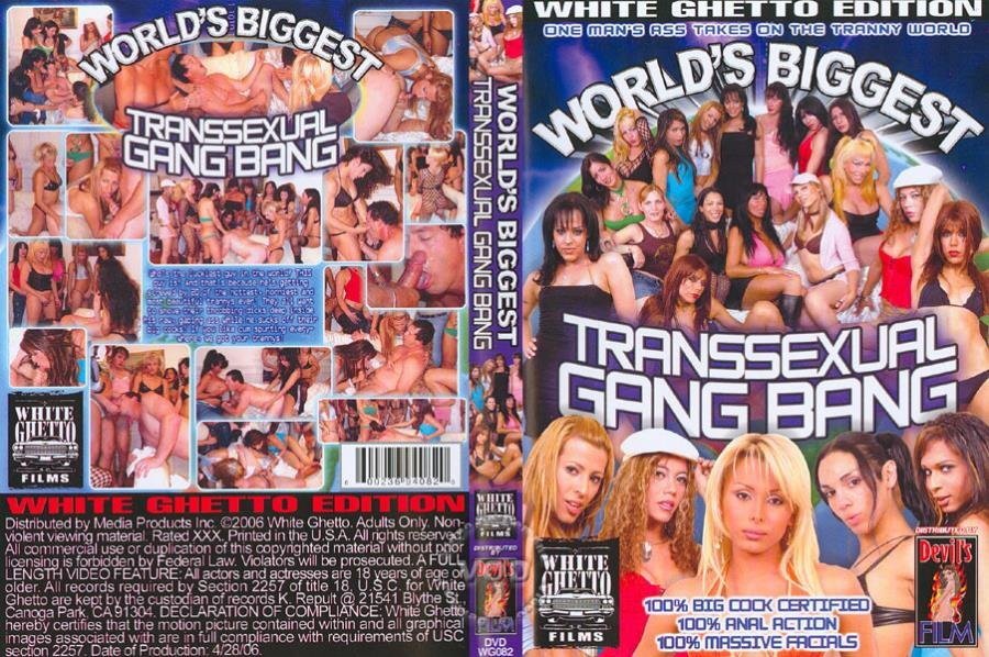White Ghetto: (Giselle, Pamela, Ihara Anahi, Paola, Nikki Hot) - Worlds Biggest Transsexual Gang Bang 1 [SD / 1.18 Gb] -