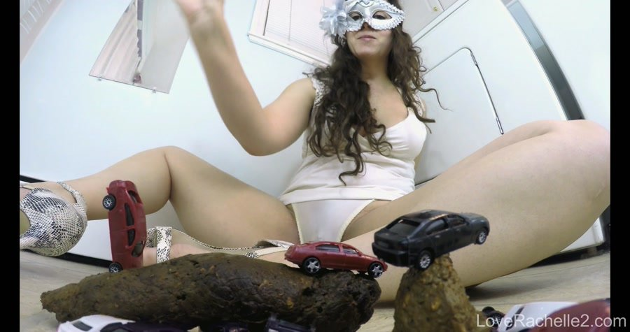 Extreme Scat: (LoveRachelle2) - Giantess Shits On Traffic Part 2 [UltraHD 4K] - Scatology, Solo, Big Pile