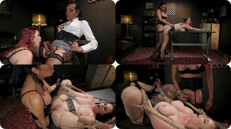 Kink.com: (Jessica Fox, Bella Rossi) - The Office Slave: Jessica Fox Fucks Bella Rossi in Every Hole [SD / 495.18 Mb] -