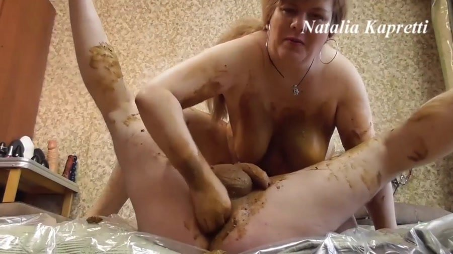 Humiliation: (Amateur) - Scat sex in warm, soft, smelly shit [FullHD 1080p] - Femdom, Fisting