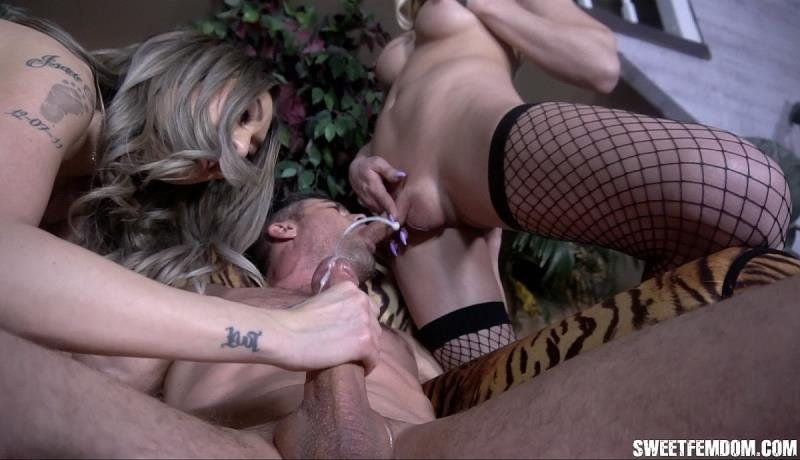 SweetFemdom.com: (Casey Kisses, Kat Dior, Lance Hart) - Butt Fucked and Drained by Casey and Kat [HD / 550.93 Mb] -