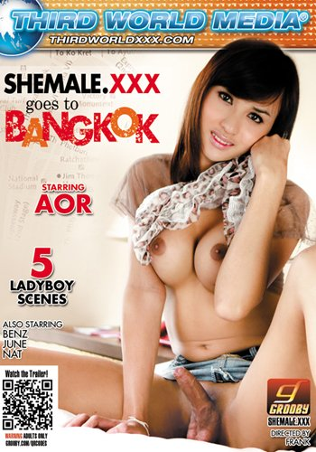 Third World Media: (June, Benz, Nat, Aor) - Shemale.XXX Goes To Bangkok [SD / 2.06 Gb] -
