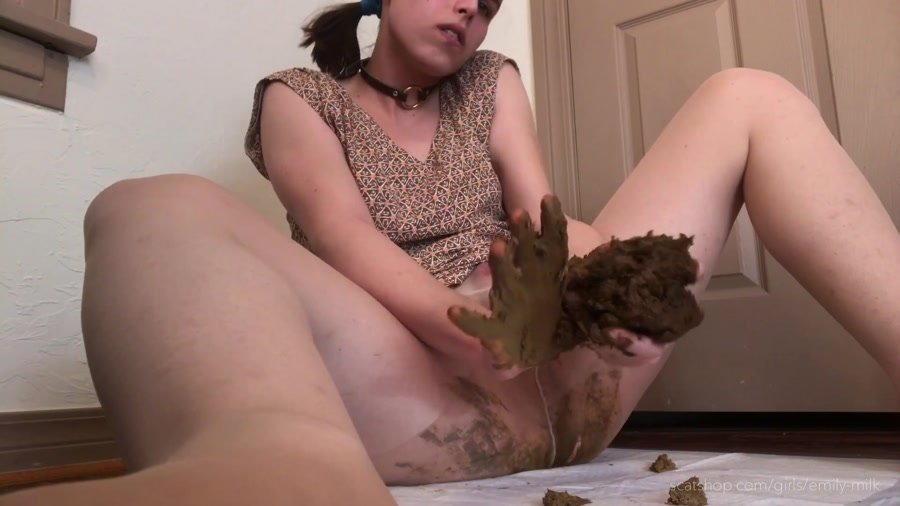 Defecation: (EmilyMilk) - Seven Day Poo in My Pantyhose! [FullHD 1080p] - Scat, Solo
