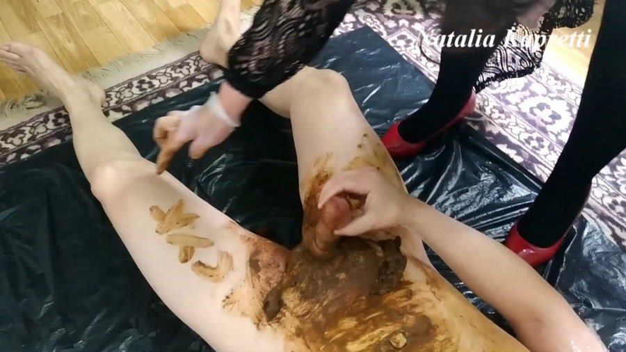 Femdom: (Mistress) - All in shit, satisfied toilet bitch [FullHD 1080p] - Scat, Humiliation