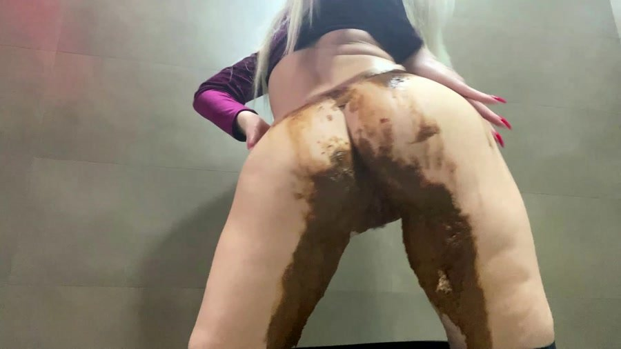 Diarrhea: (Thefartbabes) - Shiny Leggings Poop [FullHD 1080p] - Scat Video, Solo