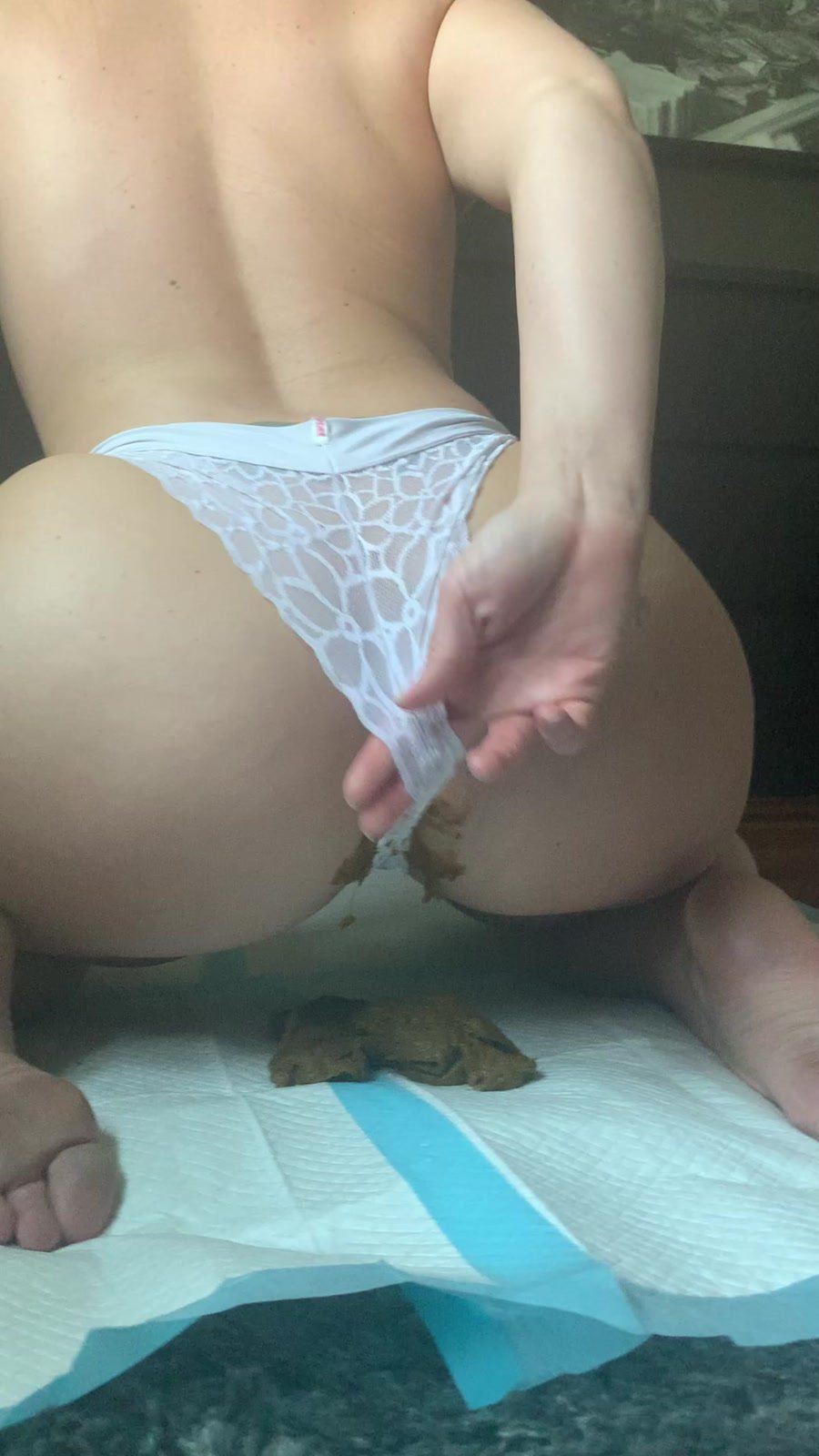 Shitty Panties: (Natalielynne699) - This panty poop turned real messy [UltraHD 2K] - Scatology, Solo