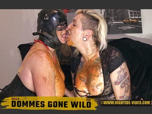 Hightide-Video.com: (Pia, Kelly) - DOMMES GONE WILD [HD 720p] - Defecation, Milf, Latex