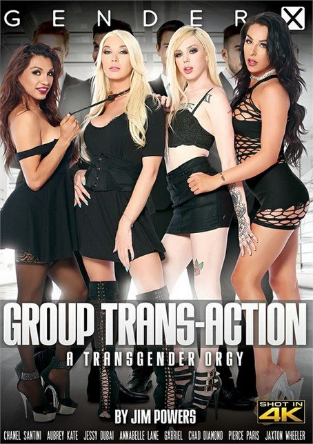 Gender X: (Chanel Santini, Jessy Dubai, Annabelle Lane, Aubrey Kate, Jaxton Wheeler, Chad Diamond) - Group Trans-Action [SD / 1.6 Gb] -