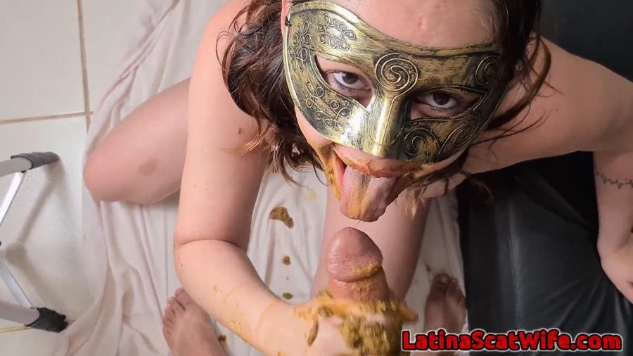 LatinaScatWife: (Defecation, Extreme Scat, Scatology, Sex Scat, Blowjob) - Dirty Blowjob 3 [FullHD 1080p] - Scat, Blowjob