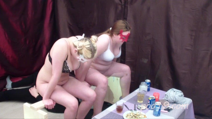 Scatting Domination: (Smelly Milana) - Toilet slave quickly swallows shit of two girls [HD 720p] - Shitting, Toilet Slavery