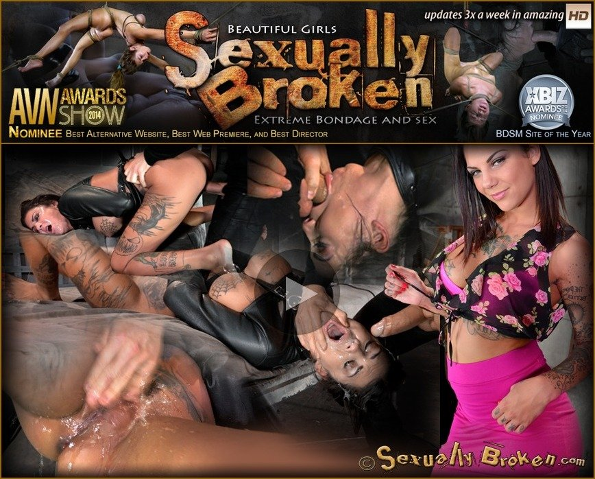 SexuallyBroken.com: (Bonnie Rotten) - AVN winner Bonnie Rotten bound in a straightjacket and roughly fucked hard, epic deepthroat! [HD 720p / 654 MB] -