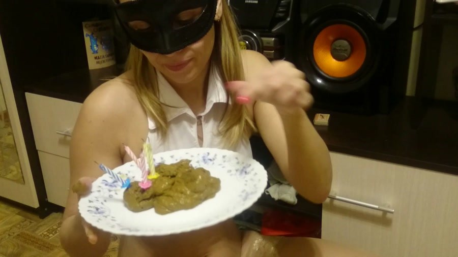 Extreme Scat: (Brown wife) - Cake of shit [FullHD 1080p] - Smearing, Solo