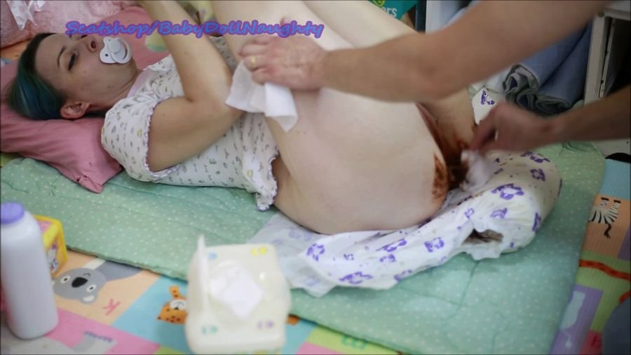 Smearing: (BabyDollNaughty) - Daddy Changes me [FullHD 1080p] - Scatology, Amateur