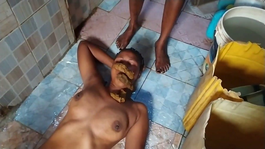 Toilet Slavery: (ShitGirls) - A Nice, Quick But Huge, Soft Shit Outside In Nigeria [FullHD 1080p] - LezDom, IR